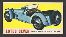 Lotus Seven Sports Roadster 1961 Topps Sports Cars Card #1