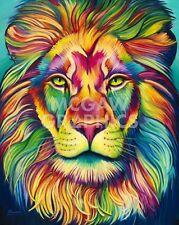 "SCHUMAN STEVEN - LEONARDO (LION) - ART PRINT POSTER 14"" X 11"" (2808)"