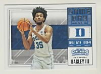 2018-19 Panini Contenders Draft Picks GAME DAY TICKET 3 MARVIN BAGLEY RC Rookie