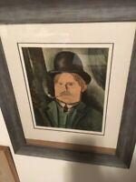 """Maurice De Vlaminck signed""""Autoportrait a la Pipe"""" lithograph"""
