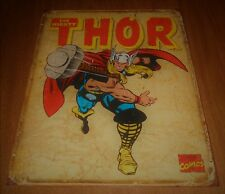 20011 Marvel Comics Retro 16 x 12 Tin Sign Hang - The Mighty Thor - Used