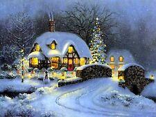 Winter Cottage~counted cross stitch pattern #56~Holidays Christmas Graph Chart
