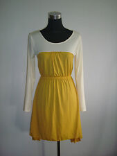 yellow mustard cream long back casual party office dress
