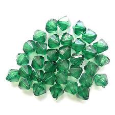 500 Acrylic Bicone Beads 6mm Green Jewellery Making