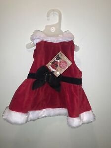 MRS SANTA CLAUS DOG DRESS- New
