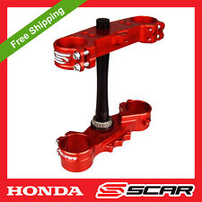 TRIPLE CLAMPS HONDA CR125 CR250 CR 125 250 CRF250 2004 2005 2006 2007 RED SCAR