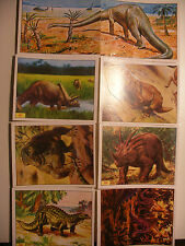 album PANINI vignette ANIMAUX PREHISTORIQUES 92 lot 8 immage Prehistoric Animal