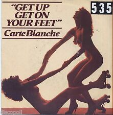 "CARTE BLANCHE - Get up get on your feet VINYL 7"" 45 LP ITALY 1979 VG+ COVER VG-"
