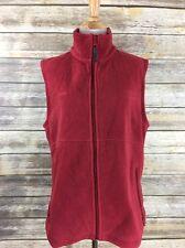 Columbia Women's Red Fleece Vest Full Zip Size Large