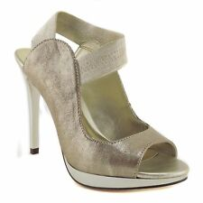 Carlos by Carlos Santana Women's Halo Platform Pumps Taupe Leather 6.5  M