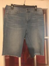 Not Your Daughters Jeans NYDJ Womens Denium Lift Tuck Shorts Size 12 Cut Off