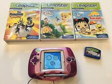 leapfrog leapster learning game system + 4 Games