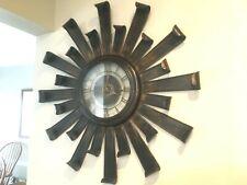 Sunburst Bronze Quartz Wall Clock