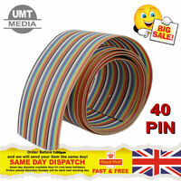 40 Pin Way Multi Coloured Flat Ribbon Cable Wire 28AWG
