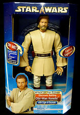 Star Wars Hasbro Toys 12 Inch Electronic Obi Wan Kenobi Action Figure New 2002