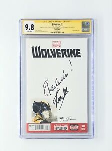 "Wolverine #1  CGC 9.8 Signed & ""Excelsior!""-Stan Lee With Clayton Crain Sketch"
