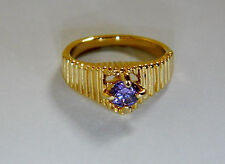Amethyst Round Yellow Gold Filled Costume Rings