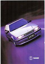 Saab 1995-96 UK Market Foldout Sales Brochure 900 9000 CS CD