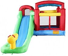 Costzon Inflatable Moonwalk Water Slide Pool Bounce House Jumper Bouncer Castle