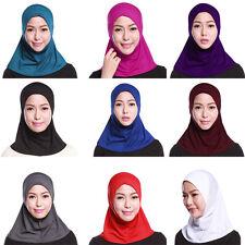 Damen Islamisches einfarbig vollständige Abdeckung Amira Hijab muslima Kopftuch