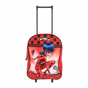 New Textiel Trade Girl's Miraculous Ladybug Rolling Luggage