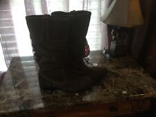 New Brown Suede Women's Boots Size7,5