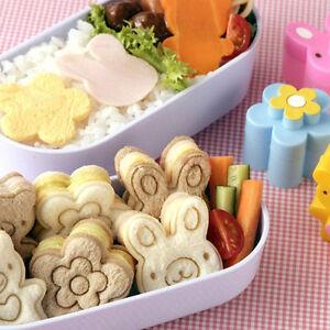 3X Sandwich Crust Cutter Cookie Bread Cake Toast Mold Rabbit Bear Flower Sha_JY