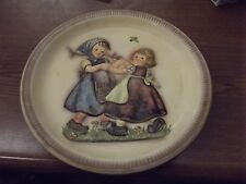 """M.J.Hummel Anniversary Plate """"Spring Dance"""" 1980 Collector Plate Raised Image"""