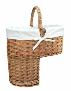 Red Hamper Double Steamed Stair Basket with White Lining