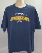 Vtg San Diego Chargers Afc West Nfl Bolts Blue Football Crew T Shirt Mens Xxl