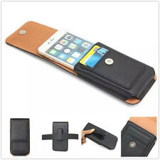 Holster Flip Leather Rotating Belt Clip Pouch Sleeve Case Cover For Cell Phones
