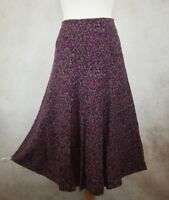 Per Una Purple Mix Skirt Size UK 10 M&S Marks and Spencer Lined
