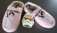 Star Wars Damen Hausschuhe Fleece Pantoffel Slipper Prinzessin Leia ABS 36 - 42