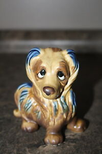 Vintage Ceramic Dog Made in Japan Looks Like Lady and the Tramp Dog Unknown Dog