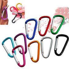 4# Climbing Accessory Random Color D Shaped Alloy Carabiner Hook Keychain 1pcs