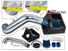 Cold Air Intake Kit + BLUE Filter Heat Shield For 11-13 Ford F150 5.0L V8