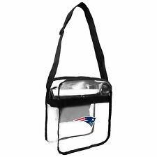New England Patriots Clear Carryall Crossbody Plastic Bag NFL Stadium Approved