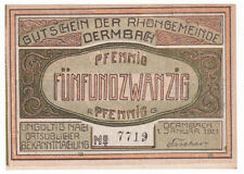 Dermbach 25 Pf. 01.01.1921 ohne Wz. Grab. 264.2 Erh. I