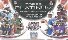 2013 Topps Platinum Factory Sealed Football Hobby Box   DeAndre Hopkins RC ??