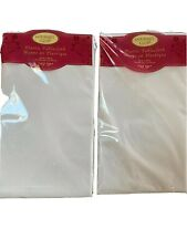 Gourmet Club Plastic Tablecloth White 52 in x 70 in