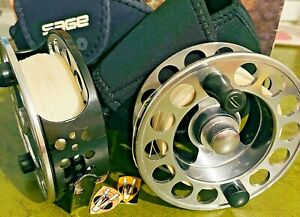 Rare Sage 3500D Salmon & Saltwater Fly Reel & spool with Cases & Backing