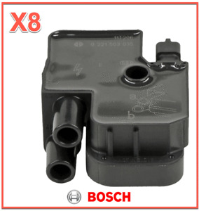 8 Ignition Coils BOSCH For Mercedes Benz REPLACES OEM # 0001587303