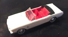 BUSCH HO SCALE 1/87 1964 1/2 FORD MUSTANG CONVERTIBLE - TOP DOWN - WHITE