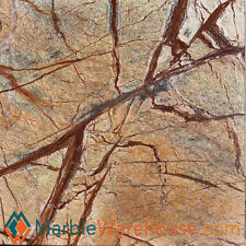 "12""X12"" RAIN FOREST BROWN BRUSHED - MARBLE TILE & FLOORING"