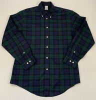 brooks brothers non-iron regent tartan supima cotton button down shirt large