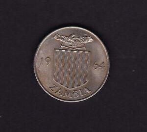 1964 Zambia Two Shillings Coin
