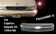 CHEVY IMPALA SS CAPRICE GRILLE FULLY CHROME GM1200450 10269614 1994-96 Exclusive