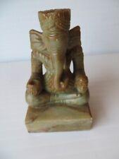 Carved Hardstone Ganesha Figure Vintage