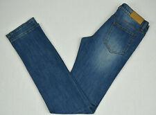 ACNE JEANS Hex Break Blue Mens Cotton Elastane Long Jean Size W31 L34