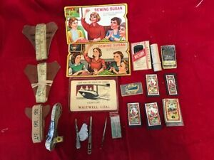 "Vintage 4 Tailor 60"" Measuring Tapes, 7 Dix & Rands & 2 Sewing Susan Needles +"